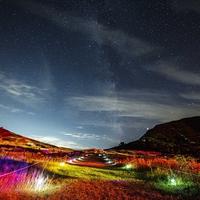【☆天空のナイトクルージング☆】夜間特別運行の谷川岳ロープウェイで行く星空×光のアート!個室でお食事