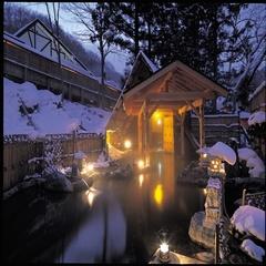 【湯めぐりX'mas】<12月限定の特典付プラン>本年ラストの貸切温泉リフレッシュ!11時アウト♪