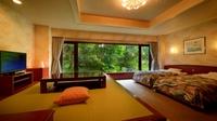 ■《禁煙》特別和洋室【ツイン+8畳】 客室温泉付バリアフリー