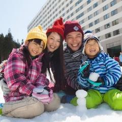 【スキー☆リフト回数券付】ホテル目の前中里スノーウッドスキー場でお子様のゲレンデデビュー♪