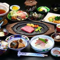 \秋冬限定/*荒波会席-aranami-*壱岐牛ステーキ+「海鮮鍋」又は「あわび陶板焼き」が選べる♪