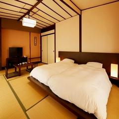 ●和室12畳ツインベッド●アウトバス・洗浄トイレ付き
