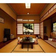 ◇広縁付和室10畳◇源泉かけ流し温泉・古代檜内風呂