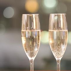 【記念日】<桜房>記念日はちょっぴり贅沢に〜スパークリングワイン&貸切風呂or岩盤浴付