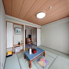 ★お宿おまかせの和室のお部屋割・1ー6名・バス・洗浄トイレ付