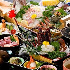 【宿イチオシ!2000円引】夕食部屋食か個室が選べる!朝食個室!伊勢えび・和牛・鮑や鯛の舟盛りを堪能