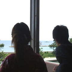 楽天限定★海側客室にて夕食お部屋食!伊勢えびや鯛の舟盛り&特選和牛付!カップルおすすめ