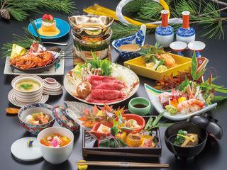 【2~3月限定 カニ料理&錦牛しゃぶしゃぶ付き】贅沢会席1泊2食スペシャルプラン