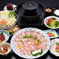 【食べ放題シリーズ★豚焼きしゃぶ】しかもお肉は地元名産のワイントンで。存分に食べても8800円〜♪