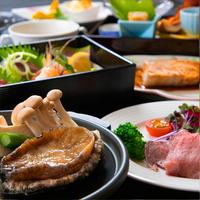 ■個室食事処確約■〜ご夕食は完全個室で堪能〜活き鮑の踊り焼きと三陸の旬な食材