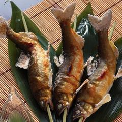 【那須御養卵で頂くプレミアムとちぎ和牛すき焼き&岩魚(鮎)の塩焼き会席】にごり湯でのんびりと