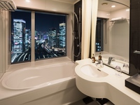 【東京駅側のお部屋】駅を見下ろせるお風呂「ビューバスルーム」(食事なし)