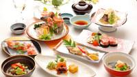 【夕食グレード2アップ】ふるさとの美味しいを詰め込んだ【桜会席・夕朝2食付プラン】