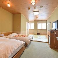 ◆和洋室ツイン【禁煙】◆シモンズ製のシングルベッドが2つ♪