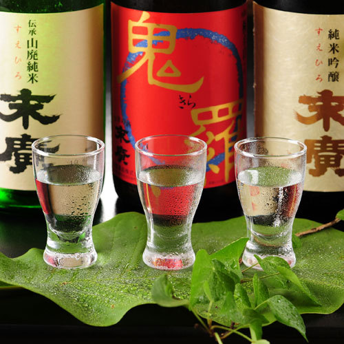 ◆利き酒梅コース◆ 〜気軽に地酒を堪能〜 酒好きのんべぇが選ぶ会津の地酒三種を呑み比べ