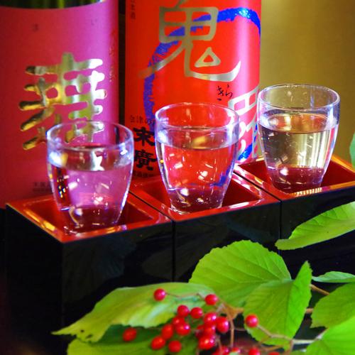 ◆利き酒梅コース◆ 〜気軽に地酒を堪能〜 同蔵元から造りを楽しむ三種の地酒をご用意