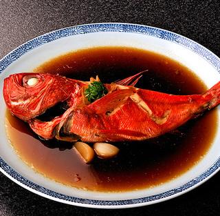 2名様で1尾まるごと金目鯛を堪能「地物極上金目鯛」姿煮orしゃぶしゃぶ