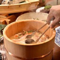 【リーズナブルプラン】夕朝食付き◇メイン品数控えめ/石焼き桶鍋・お惣菜ブッフェ◇
