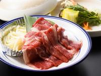 自家牧場産大塚牛のすき焼き130g&ハーフバイキング【二食付】