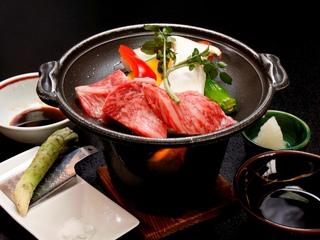 【美味】特選!【信州グルメ満喫】A5ランク!【信州プレミアム牛肉】の陶板焼ステーキプラン