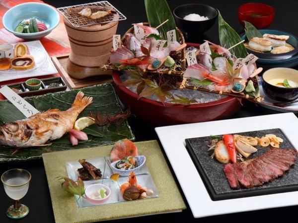 【至福】『丸ごとおもてなし』のどぐろ1尾+極上牛+地魚盛り合せ+加賀野菜♪