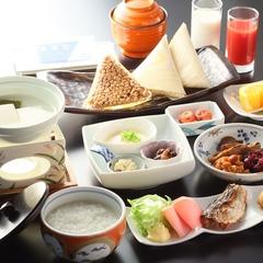 【朝食付き】最終チェックイン21時OK! ■体にやさしい和朝食<まろやか温泉粥>■