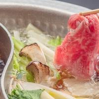 佐賀牛と松茸のすき焼き&しゃぶしゃぶ会席〜旬の香り「松茸」を添えました