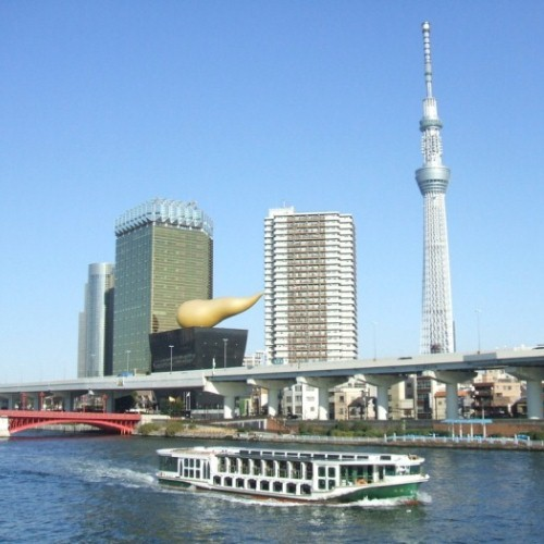 【東京観光シリーズ】「水上バス」乗船券付!浅草〜お台場間の『TOKYO CRUISE』♪