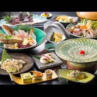 【DXふぐ】ふぐ寿司&焼ふぐ追加全12品〜ふんわり島のおもてなし【オーシャンフロント半露天付和洋室】