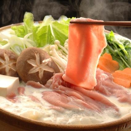 八鹿豚(ようかぶた)と旬野菜のしゃぶしゃぶ鍋と貸切風呂無料!