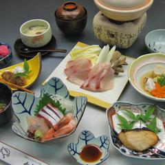 【 会席料理・お刺身・鯛しゃぶ・鰤しゃぶ・蛸しゃぶ】の中からお好きなお料理が自由に選べるプラン