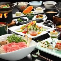 【特選★一番人気】選べるメインの山形牛料理!陶板焼きorしゃぶしゃぶorすき焼き