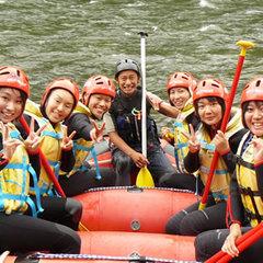 【ラフティング半日コース付!】天然のジェットコースターで利根川を制覇★人気のブッフェ(バイキング)