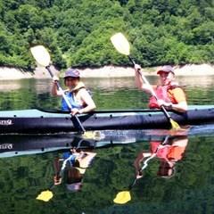 【カヌー半日コース付!】ゆっ〜たり♪の〜んびり♪カヌーで湖上のお散歩★人気のブッフェ(バイキング)