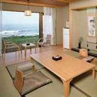 太平洋&犬吠埼灯台一望の一階角部屋 桜の間 ■禁煙■