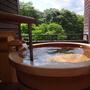 「禁煙」露天風呂付客室・和室12畳【ひのきの間】ひのき風呂