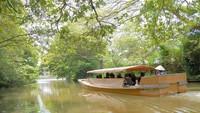 【遊覧船チケット付】国宝・松江城のお堀を船で巡る♪しじみ和牛鍋にほか島根の四季を満喫〇彩り