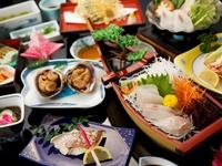 【アワビ踊り焼き付き!】磯料理セット★≪海の見えるお部屋≫1泊2食付