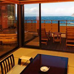 駿河湾を望む絶景の露天風呂付「贅の和室・二間Aタイプ」