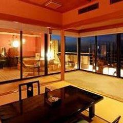駿河湾を望む絶景の露天風呂付「最上階・特別室/桜桃花」