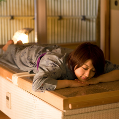 【岩盤浴ベッド付客室】2間続き客室 こだわり風呂付