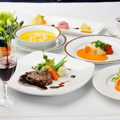 【レストランテ゛ィナー】こだわりの洋食フルコース/1泊2食付き(駐車場無料)
