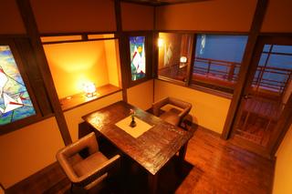露天風呂付客室 清風 (和室10畳、リビングルーム、石の露天風呂)