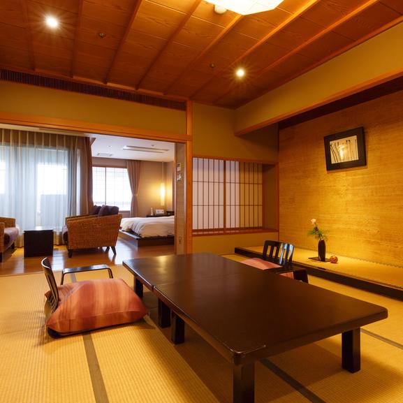 【客室で選ぶ】風の棟Aタイプ 和洋室(和室+ツインベッド)