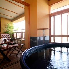 【客室で選ぶ】星の棟 露天風呂付客室Aタイプ(和室+ツインベッド)クラブラウンジ有