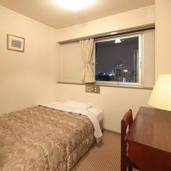 【禁煙シングルB】狭い部屋だからお得 ベッド幅125cm