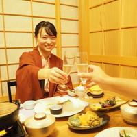 【カップル3大特典付】個室ときはで2種のお鍋1人ずつ&ハーフシャンパン♪女性に特別アメニティ&色浴衣