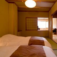 【禁煙】通常客室:半露天風呂付き客室(45平米)