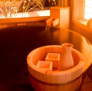 【ぎふ地酒プラン】憧れの雪見風呂&雪見酒☆ゆったりレイトチェックアウト12時でのんびり温泉旅♪