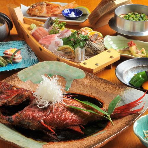 【当館スタンダード金目鯛の煮付けプラン】金目鯛料理と絶景温泉を独占♪何度でも無料貸切可能♪